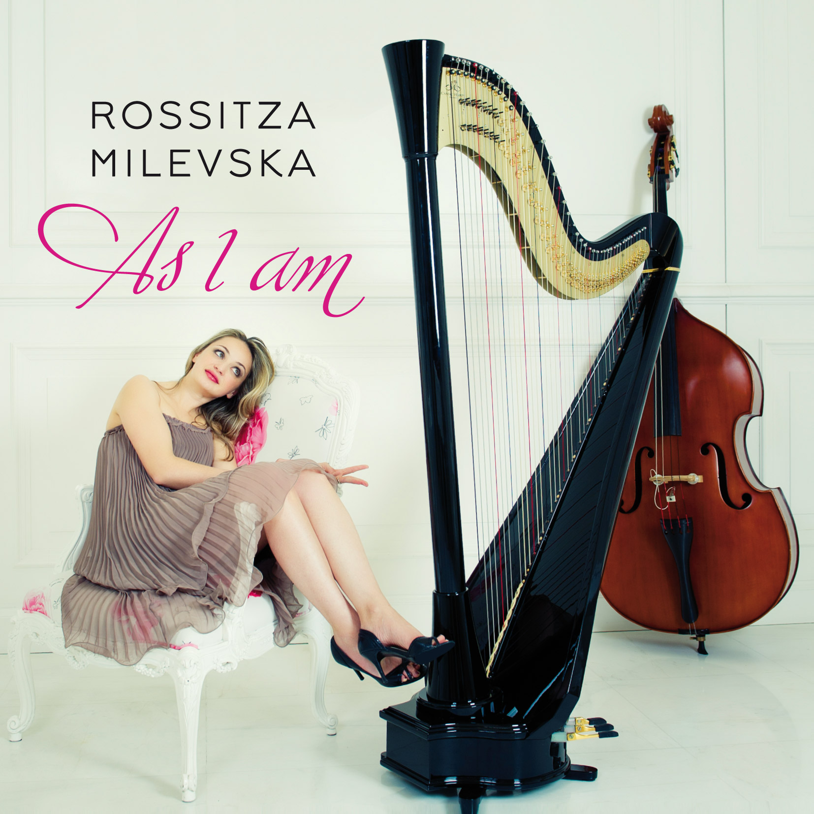 as I am, album by rossitza milevska, harpist composer singer